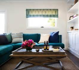 teal sectional sofa contemporary living room jute