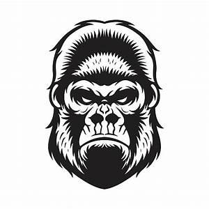 Gorilla clipart Gorilla Face Clipart - Pencil and in color ...