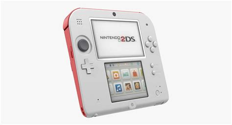 3d Ds Console by 3d Handheld Console Nintendo 2ds Turbosquid 1189369