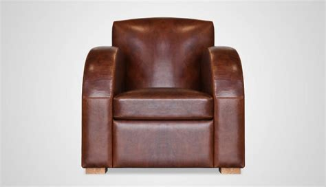 fauteuil club en cuir fleur de basane meuble et
