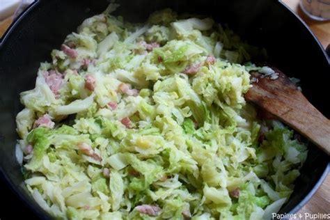 cuisiner le chou chinois marmiton recette de chou vert et petits lardons