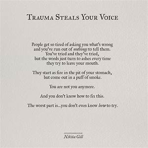 Ptsd Poems Traumatic Past Quotes