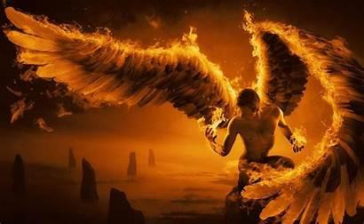 Wings Angel Fire Fog Rocks Wallhere Wallpapers