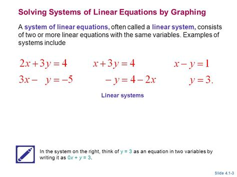 Solving Systems Of Linear Equations By Graphing  Ppt Video Online Download