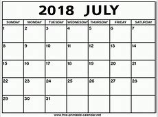 July 2018 Calendar Printable larissanaestradacom