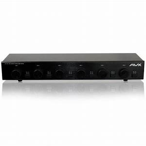 Six 6 Zone Dual Source Speaker Selector With Volume