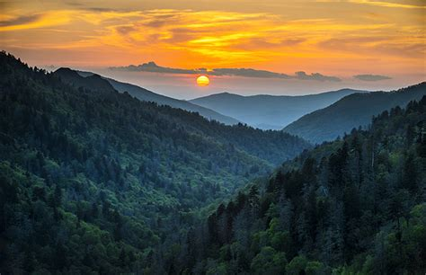 Smoky Mountains Sunset  Great Smoky Mountains National