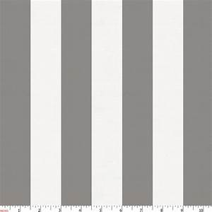 White and Gray Stripe Fabric by the Yard Gray Fabric