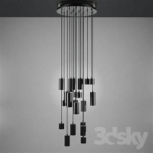 D models ceiling light modern