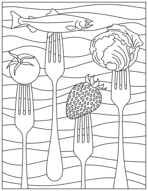 printable coloring page  national nutrition month