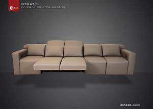 Latest home theater seats by cineak luxury seating by for Sectional sofa for home theater