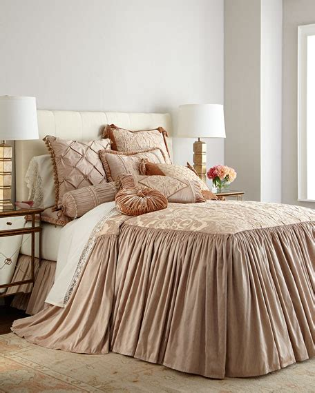 dian couture home modern maiden king skirted coverlet