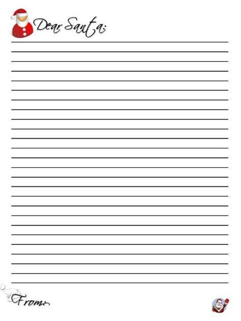 top   blank letters  santa  printable