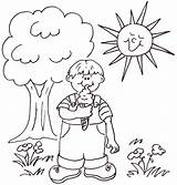 Sunny Coloring Drawing Weather Clipart Pages Print Sheet Rainy Sketch Drawings Getdrawings Days Below Then Some Template sketch template