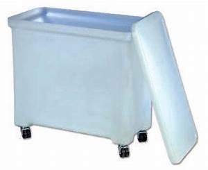 bac plastique 50 litres bac plastique rond 50l blanc 9 With porte d entrée pvc avec poubelle salle de bain bambou avec couvercle