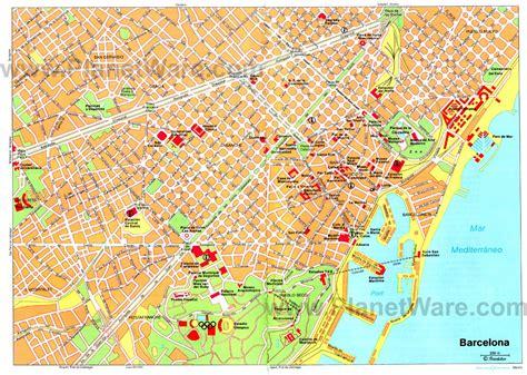 Barcelona Karte Sehenswürdigkeiten