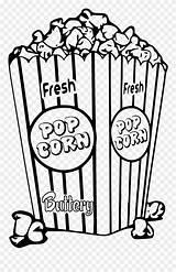 Popcorn Coloring Clipart Tlc Create Pinclipart sketch template