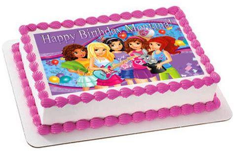 lego friends edible birthday cake  cupcake topper