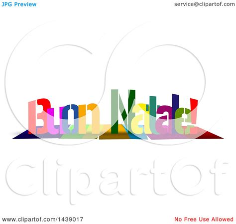 clipart buon natale clipart of colorful words merry buon natale