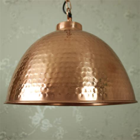 hammered copper pendant light copper hammered dome pendant melody maison 174