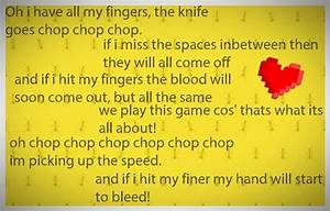 Knife game song... Knife Song Quotes