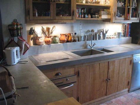 cuisine bois beton les 25 meilleures id 233 es concernant comptoirs en b 233 ton sur