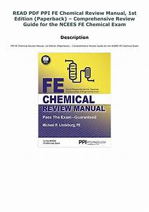 Read Pdf Ppi Fe Chemical Review Manual  1st Edition