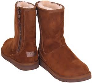 zipper ugg boots sale ugg australia mayfaire brown suede shearling zipper boot at footnotesonline 39 s