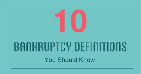 bankruptcy definitions