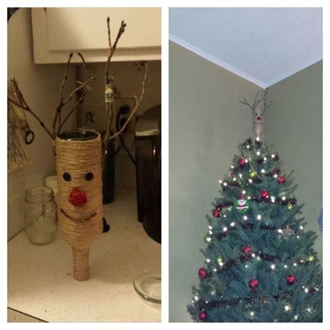 christmas tree topper wine bottle diy crafts diy