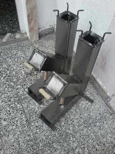 cocina cohete rocket stove quemador disco de arado  patio en  cocina cohete