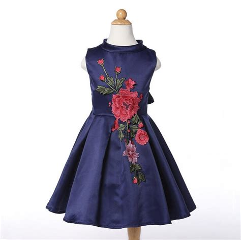 No 1 Embroidery Dress aliexpress buy 2016 child flower embroidery dress