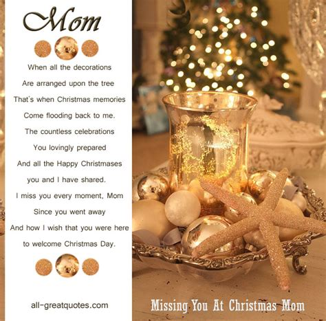 Missing Mom At Christmas.Christmas Quotes Missing Mom