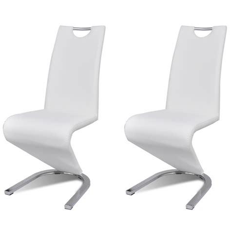chaises blanches design helloshop26 chaises salle à manger x 2 2 chaises de