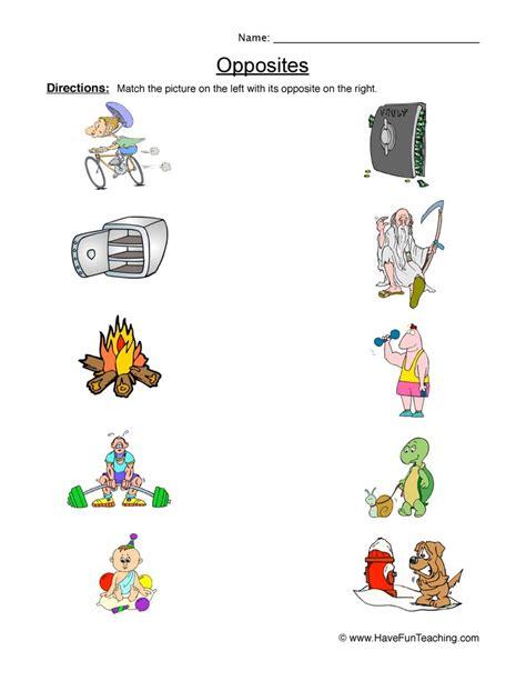 opposites worksheet 2