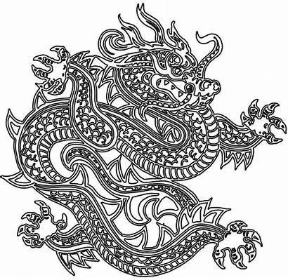 Dragon Coloring Pages Japanese Tattoo Outline Dragons