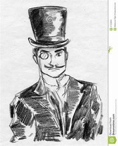 Vintage Gentleman Sketch Stock Illustration - Image: 47123694