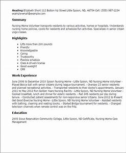 how to write a cover letter for volunteering - 1 nursing home volunteer resume templates try them now