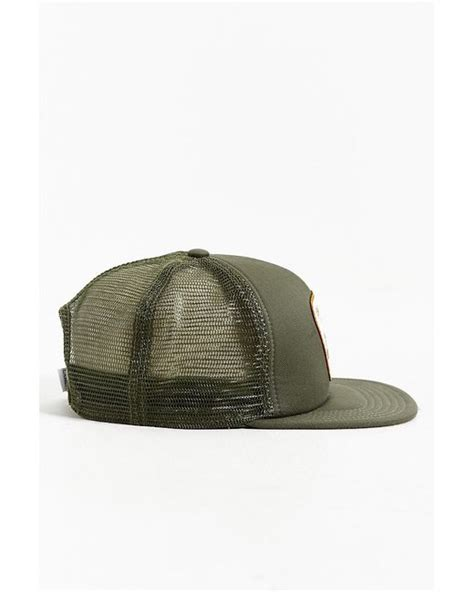 bureau hat coal the bureau snapback trucker hat in green for