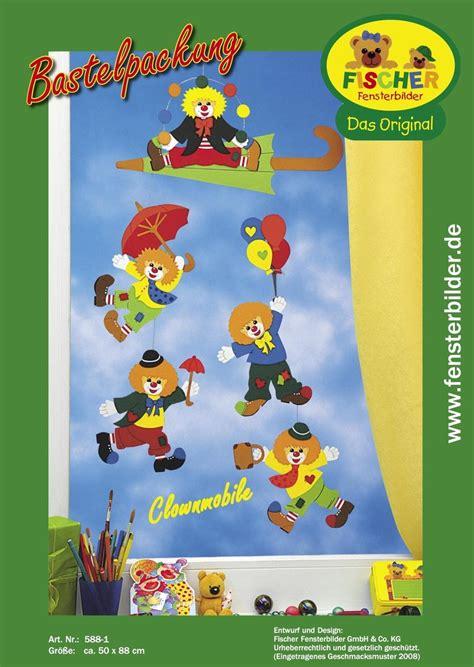 Bastelvorlagen Für Weihnachten Fensterbilder by Fensterbild Bastelvorlage Clownmobile Fischer