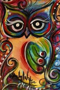 Beautiful owl painting | Owls | Pinterest