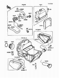 Kawasaki Ex500-a3 Parts List And Diagram