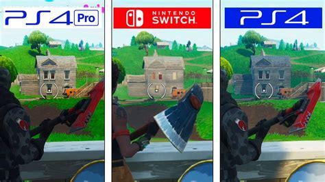 fortnite switch  ps  ps pro graphics comparison