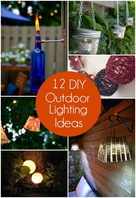 diy outdoor lighting ideas 12 diy outdoor lighting ideas the craftiest couple