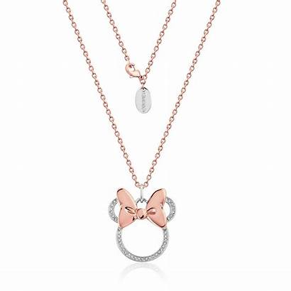 Minnie Mouse Necklace Gold Rose Crystal Rocks
