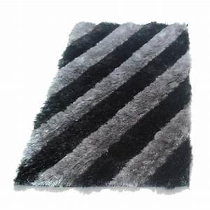 Tapis velours gris noir for Tapis velours gris