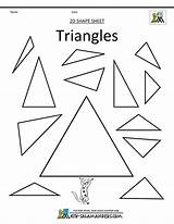 Shapes Triangles Worksheets Triangle Shape Clipart Basic 2d Worksheet Circles Squares Mixed Rectangles Kindergarten Pre Math Printables Getdrawings Drawing Salamanders sketch template