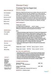 resume sles for customer service supervisor customer service supervisor resume managing professional skills exle sle template
