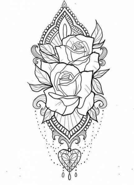 41 New Ideas For Drawing Inspirational Adult Coloring #drawing | Hair Drawings | Tattoo drawings