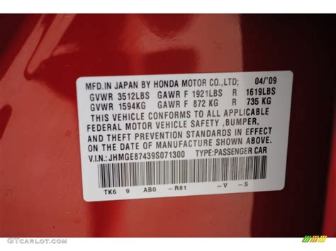 2009 fit color code r81 for milano red photo 52444069